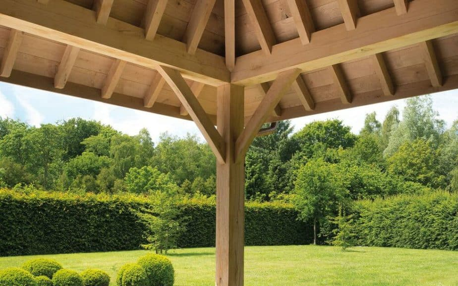 Houten aanbouw terrasoverkapping © Livinlodge