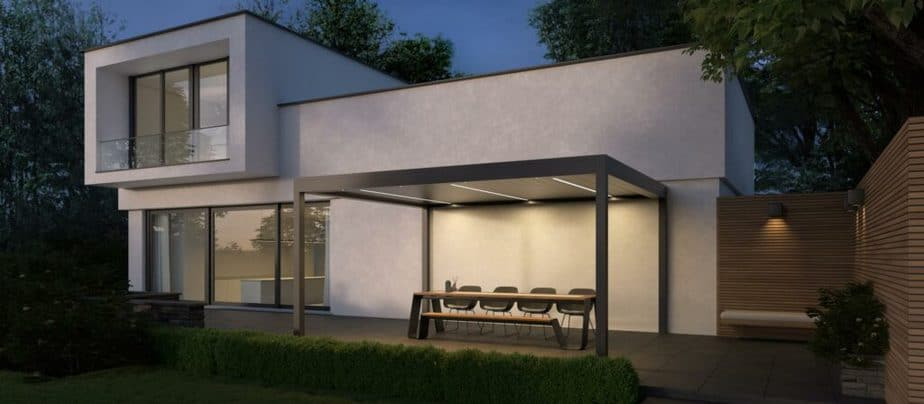 Led verlichting voor terrasoverkapping © Brustor