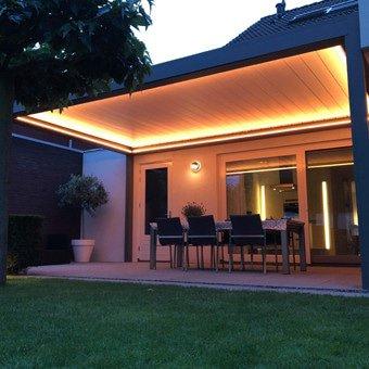 Verlichting voor terrasoverkapping © Brustor